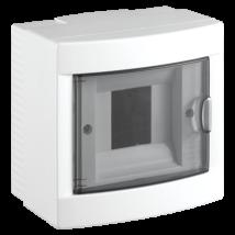 Lakáselosztó-elosztószekrény elosztó doboz 4 modulos fehér falon kívüli FK VIKO