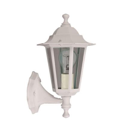 Dortmund kültéri falikar lámpatest felfelé álló fém E27 fehér IP44 (ANCO) + ajándék izzó