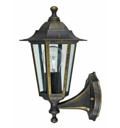 Dortmund bronz kültéri falikar lámpatest E27 felfelé álló IP44 (ANCO) + ajándék izzó VELENCE