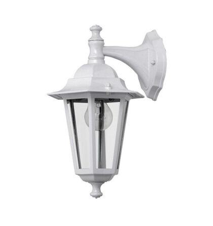 Dortmund kültéri falikar lámpatest lefelé álló fém E27 fehér IP44 (ANCO) + ajándék izzó VELENCE