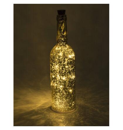 LED-es üvegpalack dekoráció, arany Somogyi