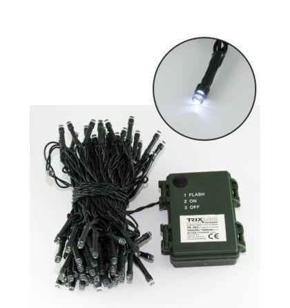 Karácsonyi LED Fényfüzér 10m (1080cm) 100 led 6500K hideg fehér kültéri/beltéri Trixline TR 305