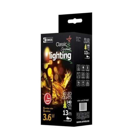 Emos karácsonyi fényfüzér időzítővel 80 LED 8m vintage ZY1432T