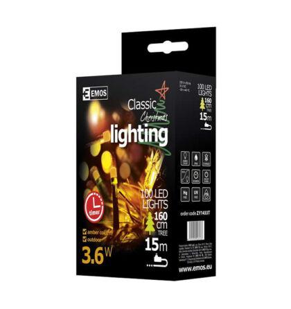 Emos karácsonyi fényfüzér időzítővel 100 LED 10m vintage ZY1433T