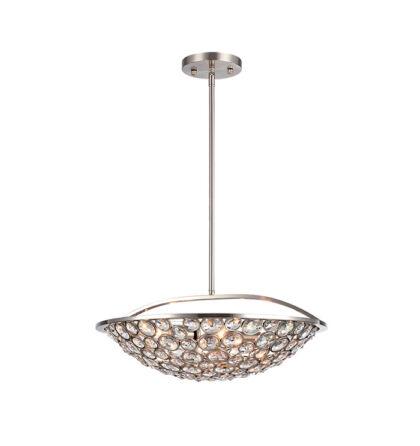 DJENY kristály dekor mennyezeti modern függeszték lámpatest 5xE14 (ELM)