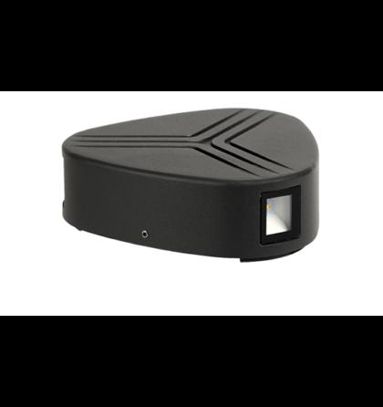 Kültéri LED 3X3W oldalfali lámpatest 4000-4300K szürke IP54 GRF9618W Elmark