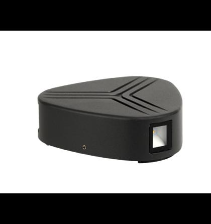 Kültéri LED 2X3W oldalfali lámpatest 4000-4300K szürke IP54 GRF9619W Elmark