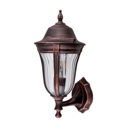 MARK kültéri fali lámpa falikar felfele antik réz (Elm)