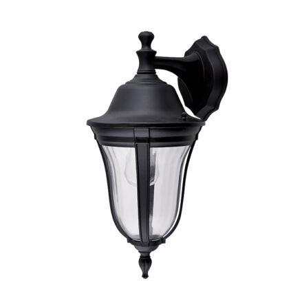 MARK kültéri fali lámpa falikar lefele matt fekete (Elm)