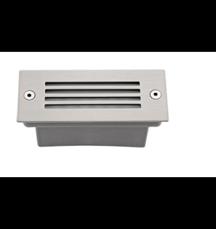 LED falba süllyeszthető félig fedett  1,5W lámpatest 6000-6500K szantin nikkel IP54 (ELM)
