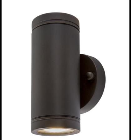 Kültéri 2xGU10 oldalfali lámpatest antik bronz IP65 GRF76-2 Elmark