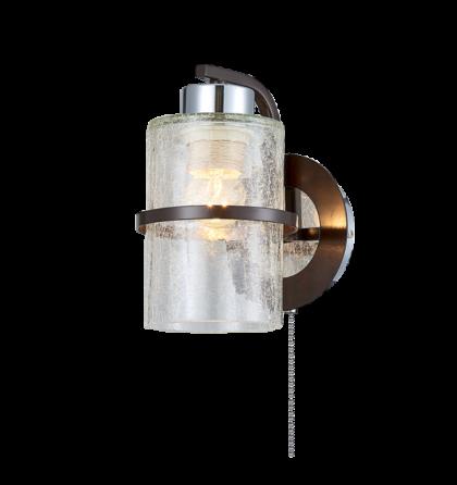 CIARA fali lámpatest 1XE27 WENGE/CHROME 955CIARA1W