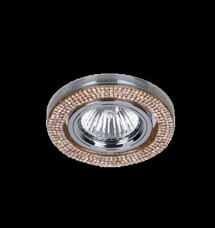 Arany Kristály álmennyezetbe építhető modern halogén spot lámpatest Elmark 925776R/GD