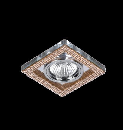 Arany Kristály álmennyezetbe építhető modern halogén spot lámpatest Elmark 925776S/GD