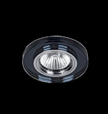 Elmark üveg modern álmennyezetbe beépíthető halogén spot lámpatest 925777R/BK