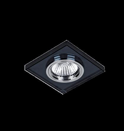 Elmark üveg modern álmennyezetbe beépíthető halogén spot lámpatest 925777S/BK