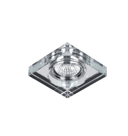 Üveg modern álmennyezetbe beépíthető halogén spot lámpatest Elmark 925778S/CL