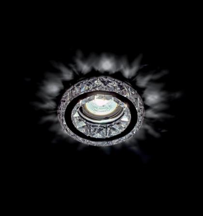 Kristály álmennyezeti beépíthető modern beépíthető halogén spot lámpatest Elmark 925773R/CL