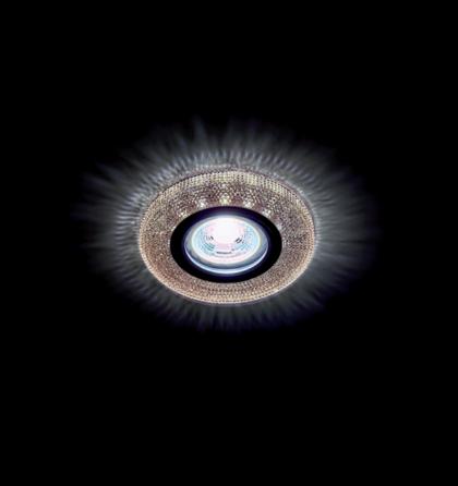 LED 3W Természetes fehér kristály modern álmennyezetbe építhető halogén spot lámpatest Elmark
