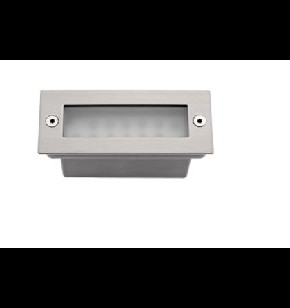 LED falba süllyeszthető 1,5W lámpatest 6000-6500K szantin nikkel IP54 (ELM)