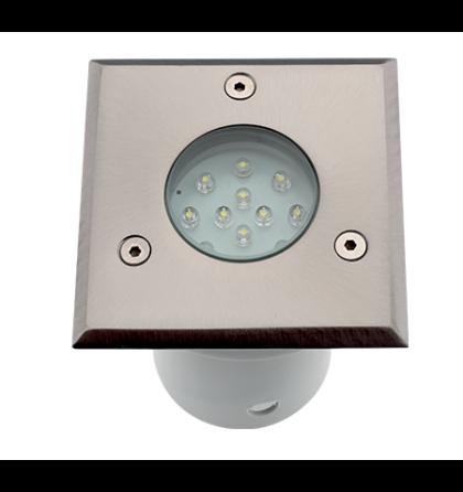 LED járófelületbe süllyeszthető építhető vízmentes lámpatest 1,5W 6000K 12 LED GRFLED002 IP67
