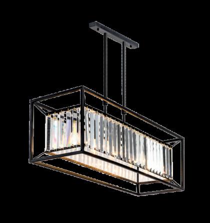 JULIA modern kristály 5xE27 fekete mennyezeti lámpatest (Elm)