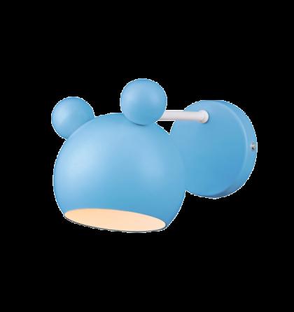 MICKEY kék gyermek fali lámpatest E14 955MICKEY1W/B (Elm)