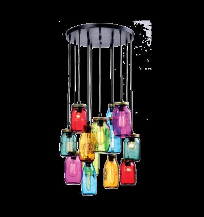 Jars mennyezeti design lámpatest csillár 13XE27 (ELm)