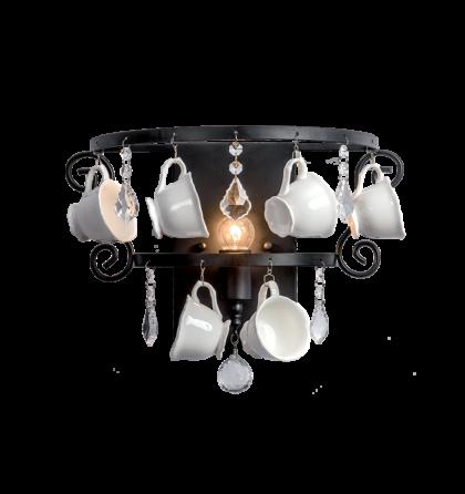 """Cups fali """"csésze"""" design fali lámpatest 1XE14 (ELM)"""