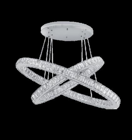 Glossy LED 96W 7680Lm természetes fehér ultramodern kristály mennyezeti lámpatest (Elm)