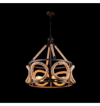 Rope vintage modern köteles rusztikus kávé mennyezeti lámpatest 5XE27 Elmark