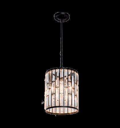 JULIA modern kristály E27 fekete mennyezeti lámpatest (Elm)
