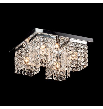 Megan kristály 400x400 mm 4XE27 mennyezeti lámpatest