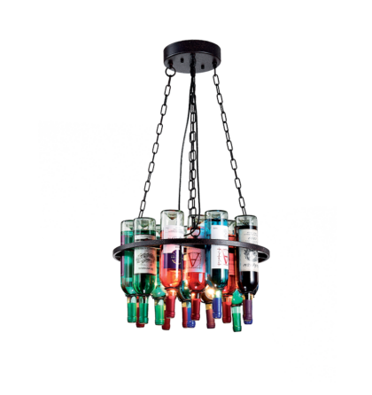 BOTTLES Palack Mennyezeti Design Lámpatest Csillár 5XE27 (ELm)