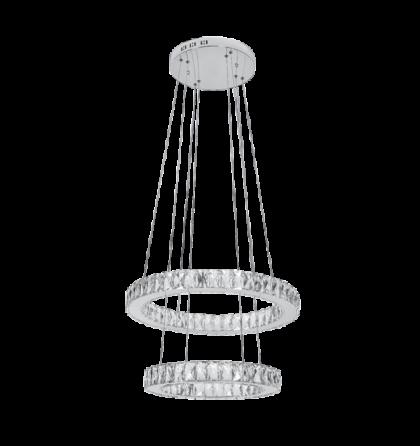 Glossy LED 72W 5760 Lm 4000K természetes fehér ultramodern kristály mennyezeti lámpatest (Elm)