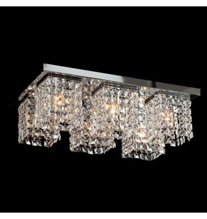 Megan kristály 600x400 mm 6XE27 mennyezeti lámpatest 955megan6