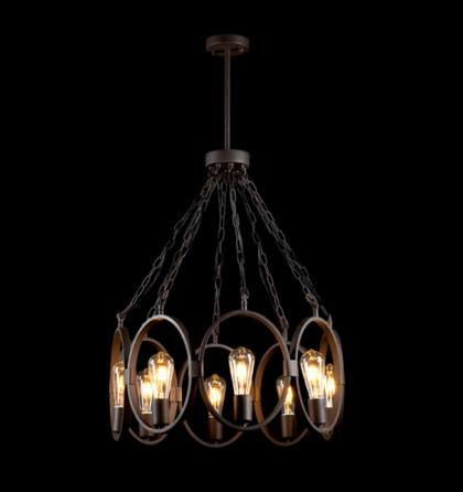 Oliver mennyezeti vintage csillár lámpatest 8XE27 Elmark