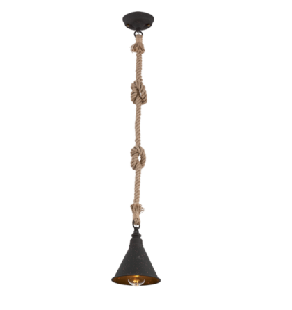 Elmark Rope vintage modern köteles rusztikus mennyezeti lámpatest függeszték 1xE27