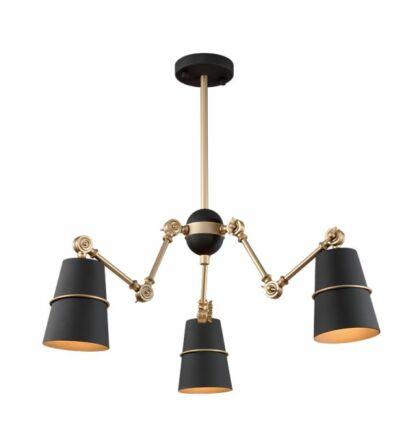 Spider design mennyezeti 3XE27 lámpatest Elm