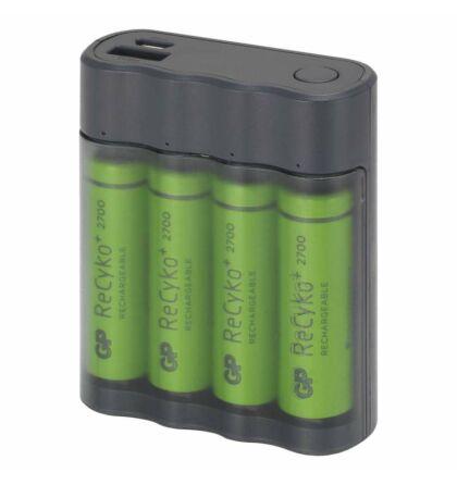 GP Charge AnyWay 2in1 power bank és elemtöltő B0350