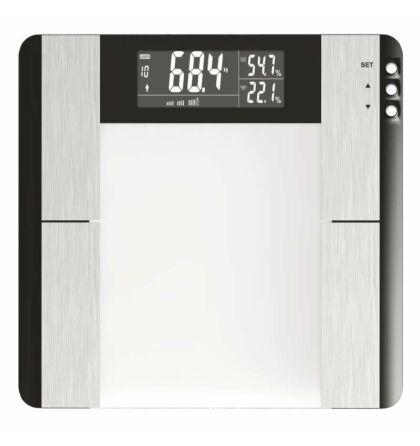 Személymérleg LCD max 150 Kg  BMI-zsír- víz- izom mérése  PT-718 Emos