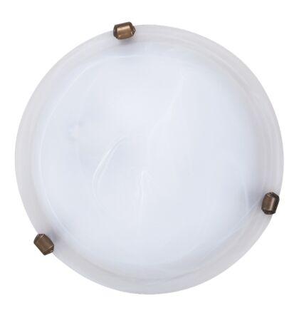 Alabastro mennyezeti lámpa bronz körömmel D30cm Rábalux 3203 + ajándék izzó