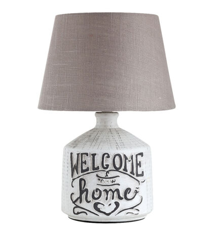 "Petra vintage asztali ""Welcome Home"" lámpatest E14 Rábalux 4386"