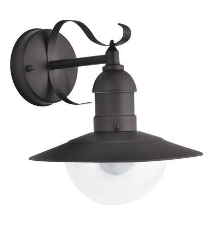 Oslo fekete kültéri oldalfali lámpatest IP 44 E27 Rábalux 8680
