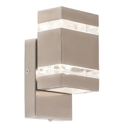 Cambridge kültéri fali LED 2X3W IP44 rozsdamentes inox lámpatest Rábalux 8780