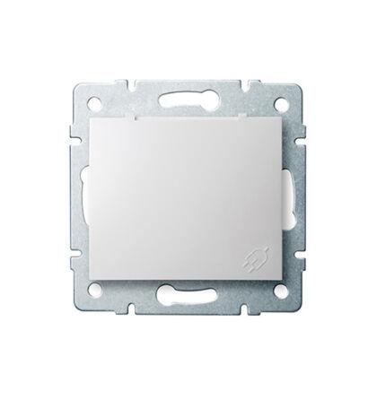Kanlux DOMO 2p+f dugalj csatlakozóaljzat keret nélkül IP44 fehér 24731