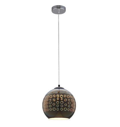 3D Üveg mennyezeti függeszték E27 Króm lámpa D250