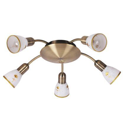 Art flower mennyezeti lámpa 5 ágú lámpatest  E14 spot Rábalux 6360