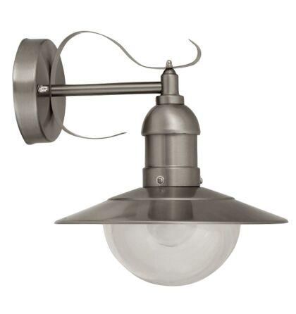 Oslo ezüst kültéri falikar lámpatest 1XE27 Rábalux 8270