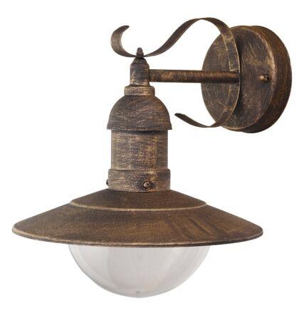 Oslo antik arany kültéri falikar lámpatest E27 Rábalux 8271